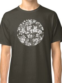 Blossoms on Charcoal Ink Classic T-Shirt