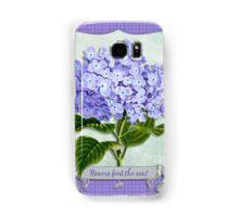 Purple Hydrangea Fancy Ribbon Fiber Paper Cutouts Samsung Galaxy Case/Skin