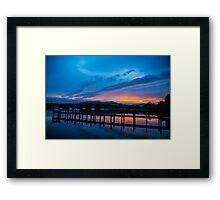 Bowness sundown 2 Framed Print