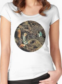 Looking for the lost toys, Vintage Collage Women's Fitted Scoop T-Shirt