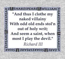And Thus I Clothe My Naked Villainy - Shakespeare Kids Tee