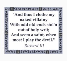 And Thus I Clothe My Naked Villainy - Shakespeare Kids Clothes