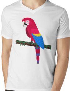 Red Ara Mens V-Neck T-Shirt