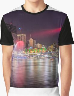 BRIS1.     Brisbane Laser Show. Queensland, Australia. Graphic T-Shirt