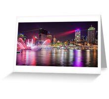 BRIS1.     Brisbane Laser Show. Queensland, Australia. Greeting Card