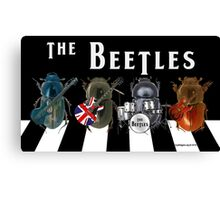 Beetles on the Road Canvas Print