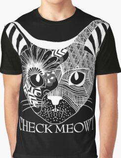 Check Meowt. Graphic T-Shirt