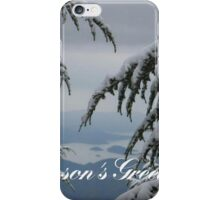 Pine Trees and Snow Season's Greetings From Fethiye iPhone Case/Skin