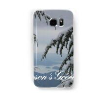 Pine Trees and Snow Season's Greetings From Fethiye Samsung Galaxy Case/Skin