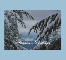 Pine Trees and Snow Season's Greetings From Fethiye One Piece - Short Sleeve