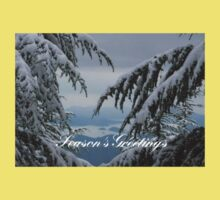 Pine Trees and Snow Season's Greetings From Fethiye Baby Tee