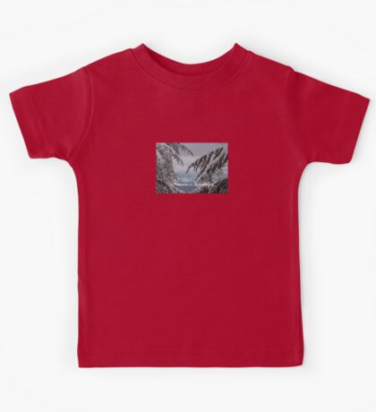 Pine Trees and Snow Season's Greetings From Fethiye Kids Tee