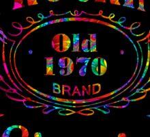 BLACK BOTTLE LABEL - truckin' (bright psychedelic) Sticker