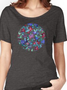 Blossoms in Cherry, Plum and Purple Women's Relaxed Fit T-Shirt