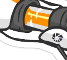 Orange portal gun Sticker