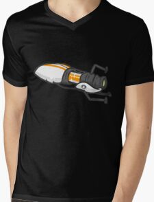 Orange portal gun Mens V-Neck T-Shirt