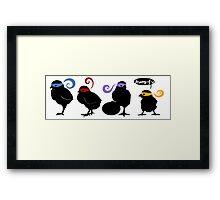 Kung-Fu-Chicks Framed Print