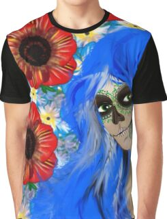 Sugar Skull Girl Day of Dead by LeahG Graphic T-Shirt