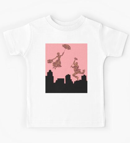 Fluffy Pink Mary Poppins  Kids Tee