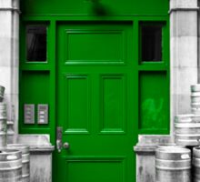 Green Door of Dublin Sticker