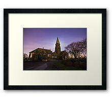 Horsforth Cemetery Church Leeds with Moon Light and Star Sky IMG 9054-RB Framed Print