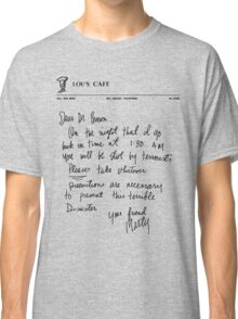 Marty's letter to Doc - Back to the Future Classic T-Shirt