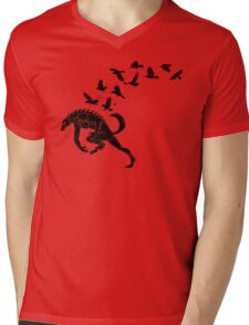 Werewolf Running from Ravens Mens V-Neck T-Shirt