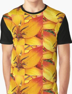 Vibrant Lily Graphic T-Shirt