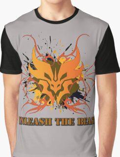Unleash the Beast - Predacon Grunge Graphic T-Shirt