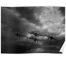 Jets Flying into the Storm Poster