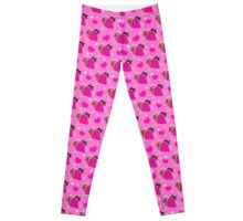 Strawberries and Hearts Pattern Leggings