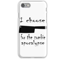 Zombie cleaver iPhone Case/Skin