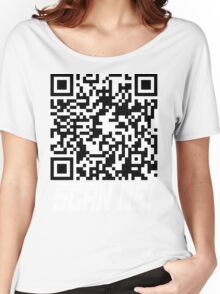 prank scan white fill Women's Relaxed Fit T-Shirt