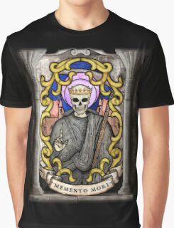 Necromancer: Memento Mori Stained Glass Graphic T-Shirt
