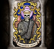 Necromancer: Memento Mori Stained Glass by EgregoreDesign