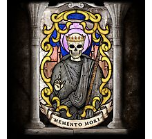 Necromancer: Memento Mori Stained Glass Photographic Print