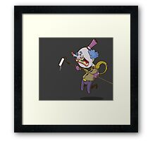 Buffy the Clown Roller Graffiti Character Framed Print