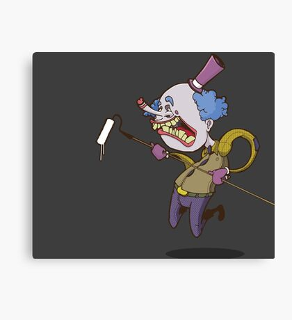 Buffy the Clown Roller Graffiti Character Canvas Print