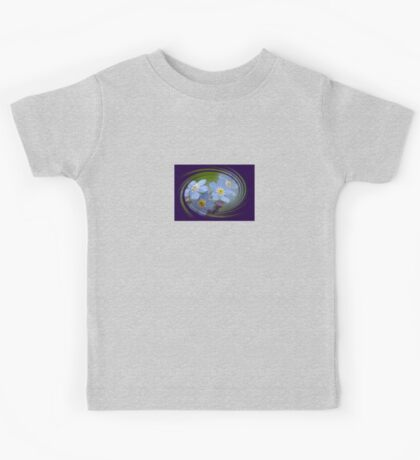 Forget-Me-Not with Decorative Border Greeting Card Kids Tee