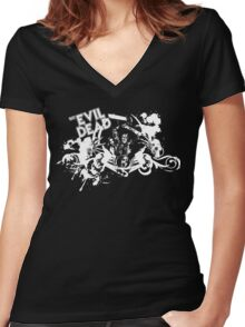 Evil Dead - Ash vs. Deadites Women's Fitted V-Neck T-Shirt