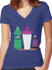 Dirty Sprite Women's Fitted V-Neck T-Shirt
