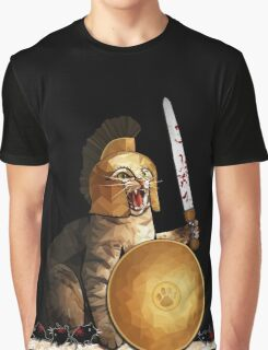 Spartan cat Graphic T-Shirt