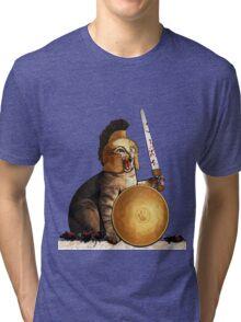 Spartan cat Tri-blend T-Shirt