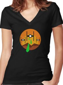 TIE Sunset Attack Women's Fitted V-Neck T-Shirt