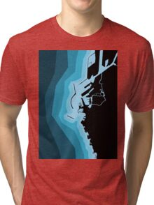 LIVORNO COAST MAP Tri-blend T-Shirt