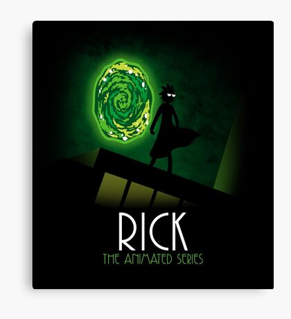 Rick the animated series Canvas Print