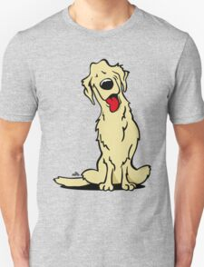 Cartoon golden retriever dog T-Shirt