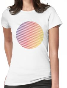 vaporwave sphere Womens Fitted T-Shirt