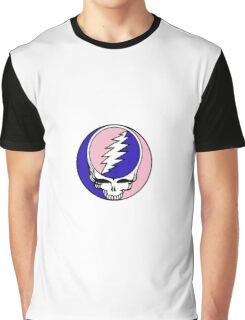 Grateful Dead Logo Pink and Blue Graphic T-Shirt