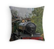 Locomotive Steam Train Llangollen Railway Station Throw Pillow